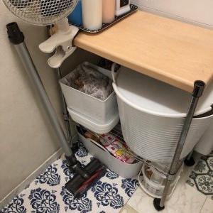 楽しく風呂掃除<100均ダイソー>蓋付き収納ボックス