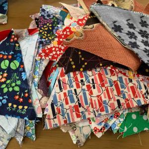 布の整理 不器用なパッチワーク
