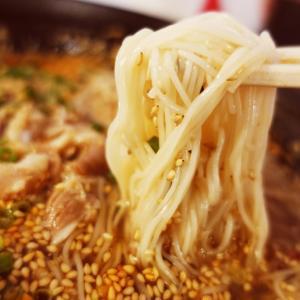 そうめん屋はやし@下神明(山椒肉ラー素麺・寝かせ玄米のミニ鶏そぼろ丼)