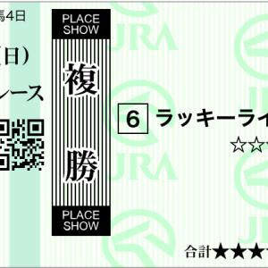 札幌記念 購入馬券 ノームコアはどうなんでしょう?