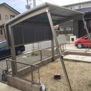自転車置き場に屋根をつけよう