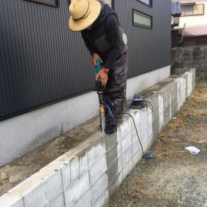 フェンス工事の始めに