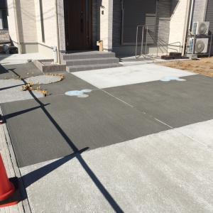 アクセントデザインのある駐車場