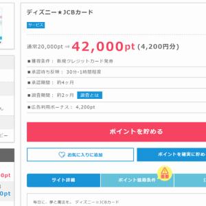 【ディズニー JCBカード】の発行で4200円のお小遣いが稼げる!ポイントインカム