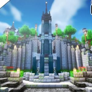 【マインクラフト1.17】空島に噴水広場を作る。【マイクラ実況】