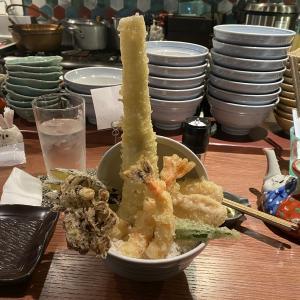 超ド級の穴子天!!サクサクフワフワの天丼が食べたければ恵比寿に集合だ!!【恵比寿「恵比寿天ぷら串 山本家」上天丼(1500円)】