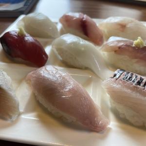 【伊豆大島「港鮨」地魚にぎり(1950円)】