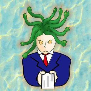 髪の毛が蛇の人