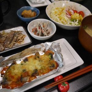 【糖質制限#43】ある日の食事記録/アジの味噌マヨ焼き