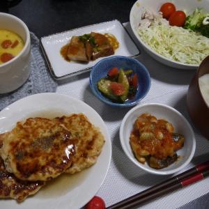 【糖質制限#69】ある日の食事記録/鮭と豆腐の餡かけハンバーグ
