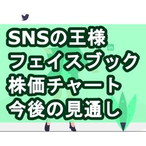 フェイスブック株価チャート、今後の見通し【SNSの王様】
