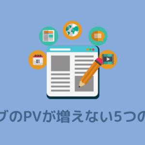 ブログでPVが増えない5つの原因!闇雲に記事を書くと失敗する話