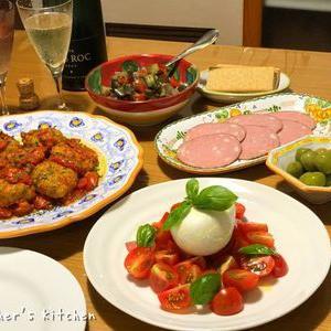 Mozzarea di bufalaと、ボルゲーゼトマトの煮込み♪♪