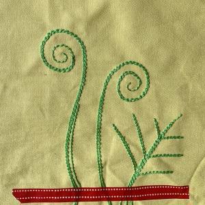 ボビンに刺繍糸を巻いて、簡単ミシン刺繍