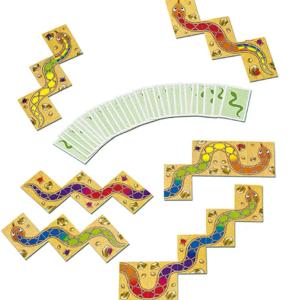 【学童レビュー 虹色のヘビ】2歳から遊べる色合わせ蛇作りカードゲーム