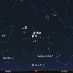 【天体ショー】月と木星、土星が接近、方角は、楽しみ方は?