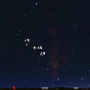 【天体ショー】月が、木星、土星に最接近