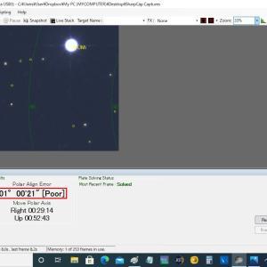 【天体観測】プチ遠征の極軸設定結果は、「POOR」でした。
