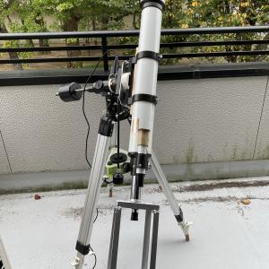【天体観測機器】太陽投影板本番機、ファーストライト