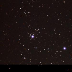 【天体観測】ペルセウス座の散開星団NGC1444と、金星とアンタレスの大接近