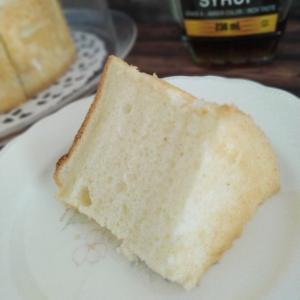 ケーキカバーの取っ手を変えてみたら可愛くなった 白いシフォンケーキ