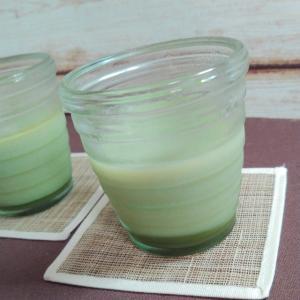 ぷるんぷるん二層の抹茶プリン 可愛いデザートカップいろいろ