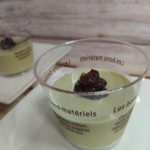 抹茶パンナコッタ ゼラチン使うデザートは簡単で美味しいね