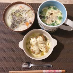 【今日のディナー】ベビーホタテのオリーブオイルチーズ焼き、茶碗蒸し☆