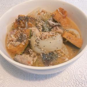 【食事制限レシピ】サバ缶とかぼちゃの味噌煮☆