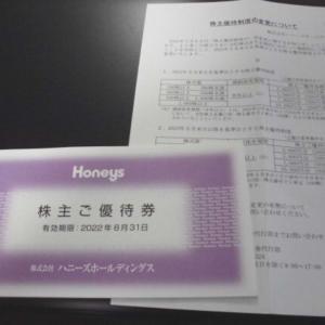 【5月株主優待】ハニーズ(2792)から優待券到着♪