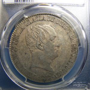 Stack'sで落札したスペインの20レアル銀貨2枚