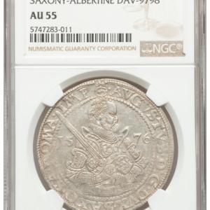 ドイツ ザクセンのターラー銀貨その2