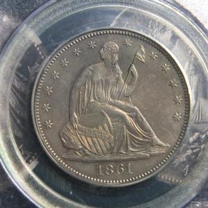 1861年ハーフダラー銀貨(プルーフ貨)