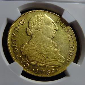 第25回オークションワールドの落札品が到着④最終回(1789年8エスクード金貨)