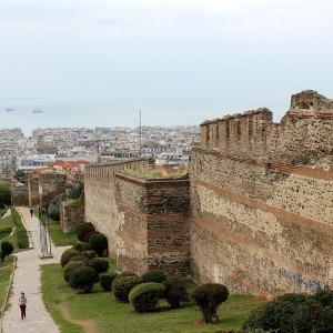 行った気になる世界遺産 テッサロニキの初期キリスト教とビザンティン様式の建造物群 テッサロニキの壁