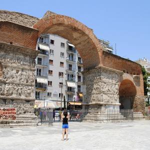 行った気になる世界遺産 テッサロニキの初期キリスト教とビザンティン様式の建造物群 ガレリウスの凱旋門とロタンダ