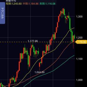 【緊急速報】 米国株急落 ( 大幅続落 )