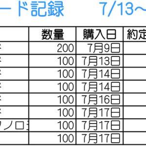【株】7/13~7/17のトレード記録