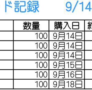 【株】9/14~9/18のトレード記録