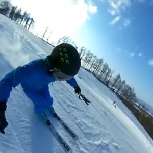 2020-21シーズン滑走19日目 函館七飯スノーパーク昼から晴れ