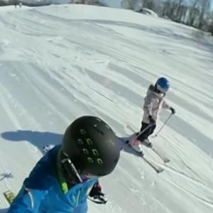 2020-21シーズン滑走20日目 孫と2人でグリーンピア大沼スキー場