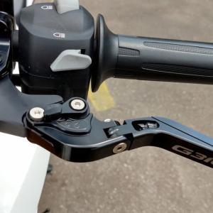 G310R ODAXのアジャスタブルレバーセットに交換