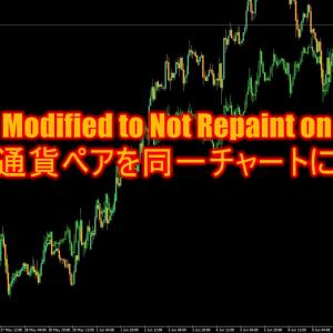 Overlay Chart Modified to Not Repaint on each barで複数の通貨ペアを同一チャートに表示