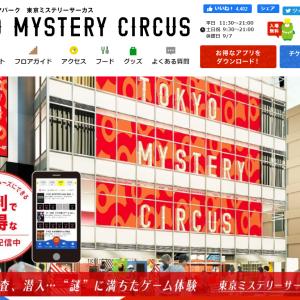 東京ミステリーサーカスでリアル脱出ゲームを遊んできた感想・レビュー