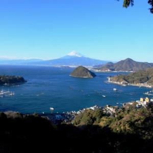 伊豆半島先端から昼夜の富士山