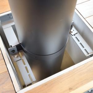 新宮商行の新しい煙突固定2つ割りバンドはメトスのアングルに適合しない