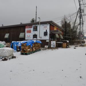 北軽井沢に初積雪