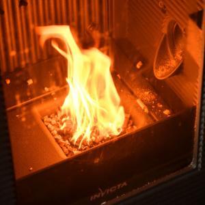 アキミックスのペレット燃焼の動作確認