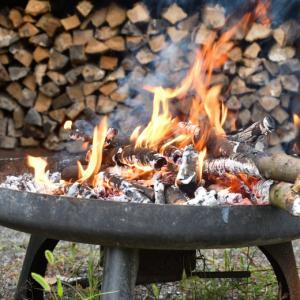 焚き火台で焚き火
