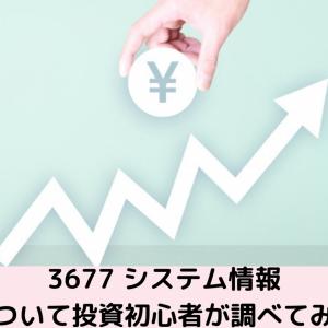 【投資】初心者による株式投資 企業分析をしてみました! システム情報 証券番号3677